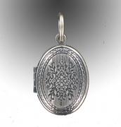 Medaillon silber  Medaillon Schmuck - ovale Medaillons in silber - Antikschmuck