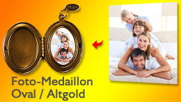 Medaillon oval in gold
