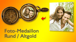 Medaillon rund in gold